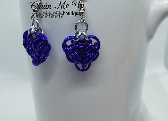 Heart Earrings - Purple