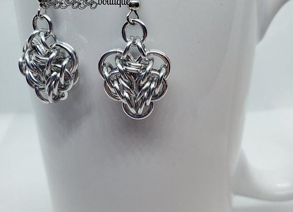 Heart Earrings -Silver