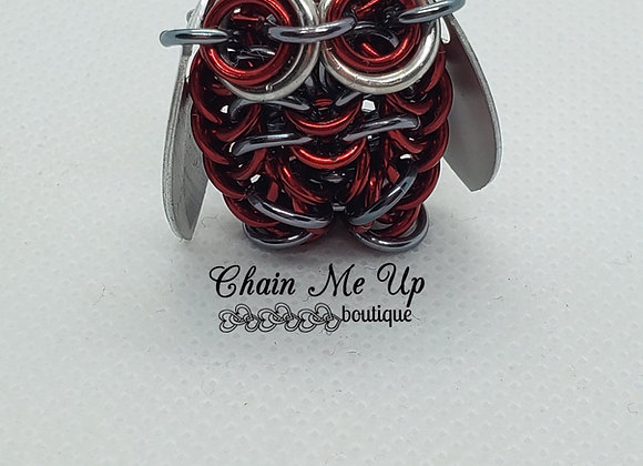 Owl - Peppermint Red/Silver