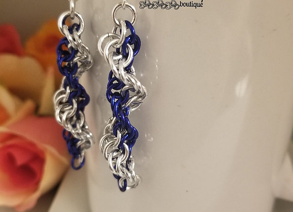 DNA Blue Earrings