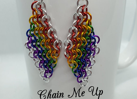 Rainbow Diamond Earrings