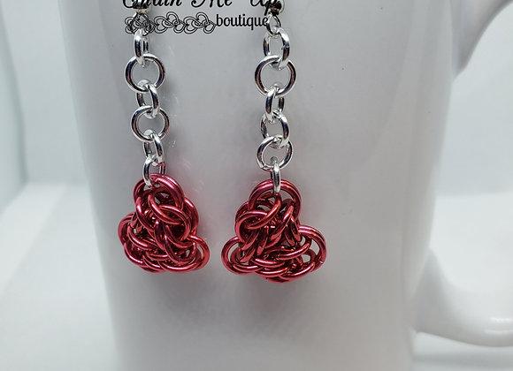 Heart Earrings - Pink Dangle