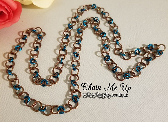 Teal/Brown Necklace