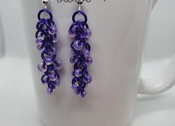 Shaggy Purple Earrings