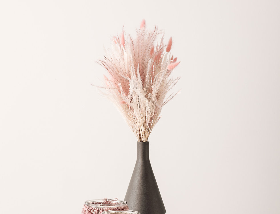 Trockenblumen Strauß Marshmallow