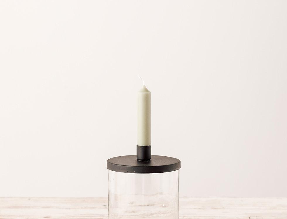 Kerzenhalter für Stabkerze schwarz, mittel