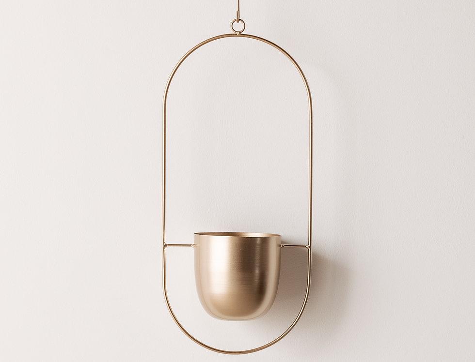 Hängeampel gold oval
