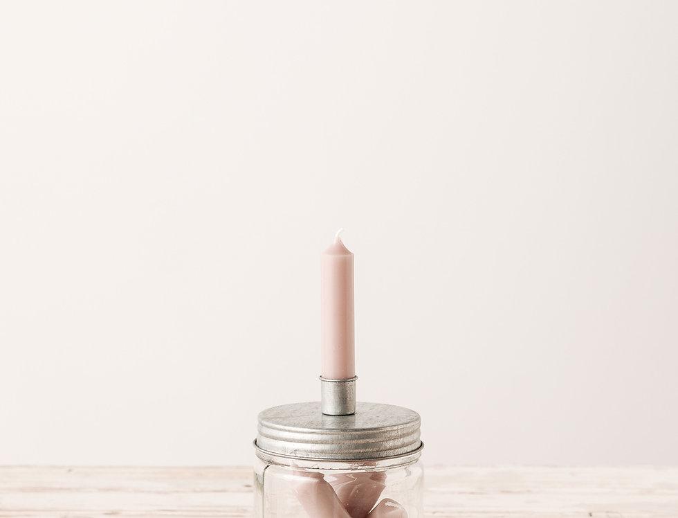 Kerzenhalter für Stabkerze silber, mittel