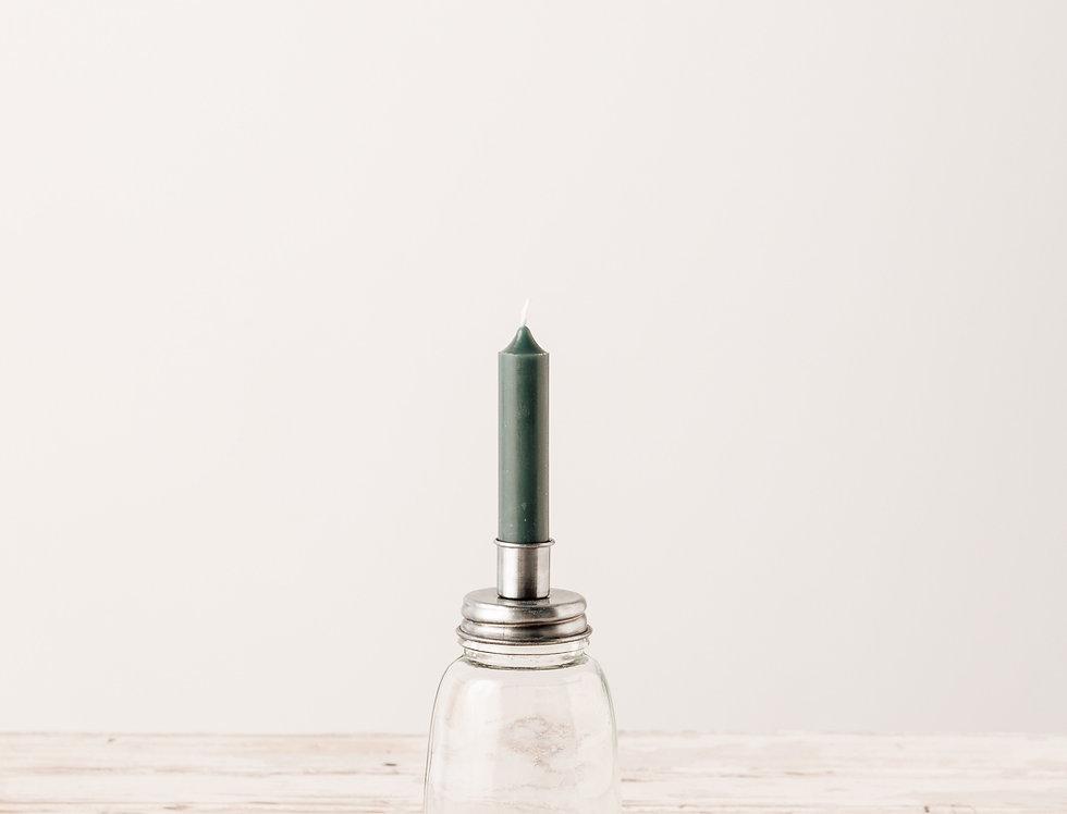 Kerzenhalter für Stabkerze silber, klein