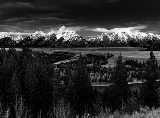 The Tetons in Monochrome