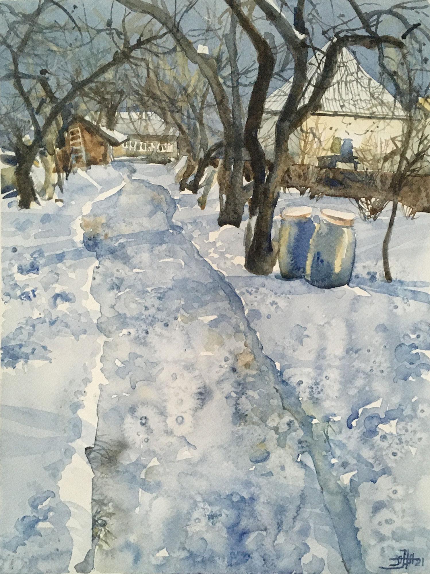 Зима в деревне -2