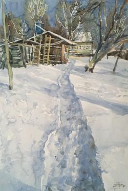 Winter in the village -3