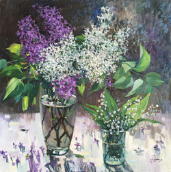 Lilac and lily of the valley