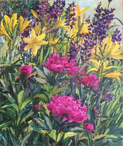 Пионы и лилии