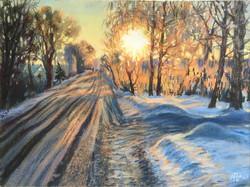 Рассвет у дороги