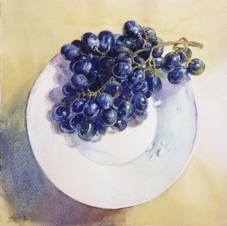 Виноград и капли