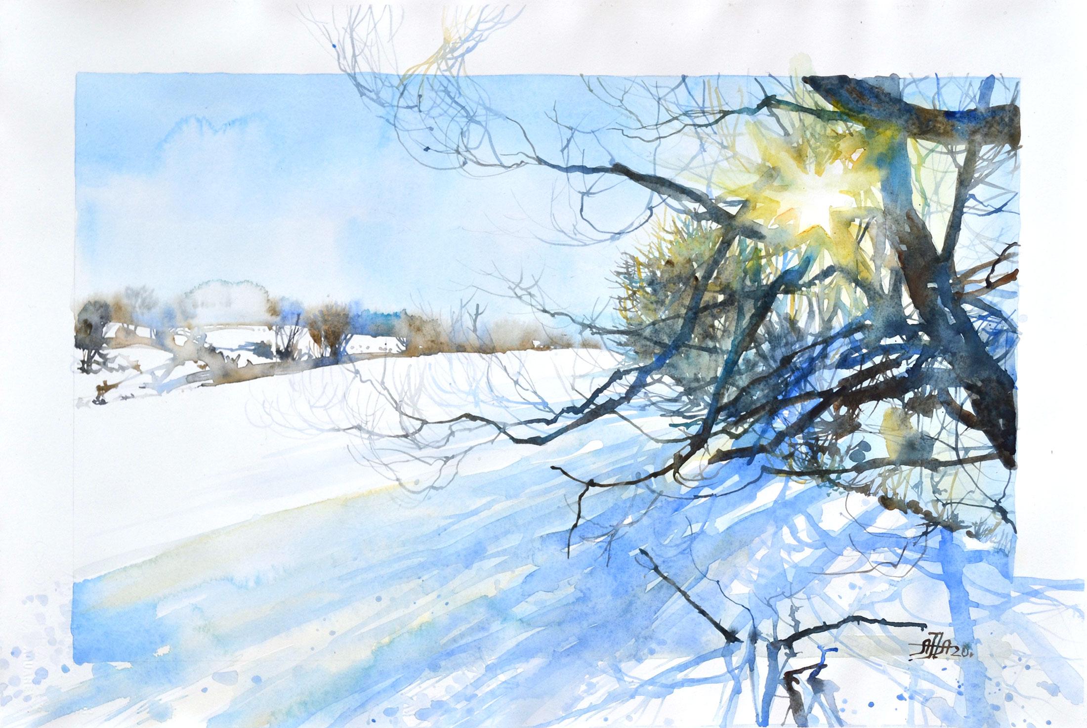 Дон, зима, солнце