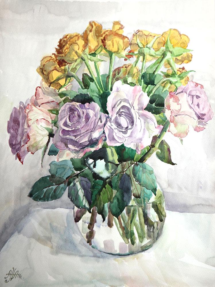 Поникшие розы