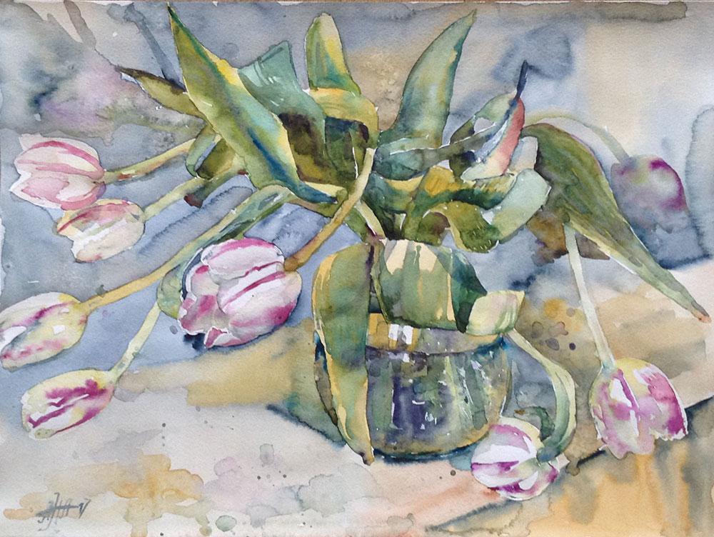 Белые тюльпаны - 2