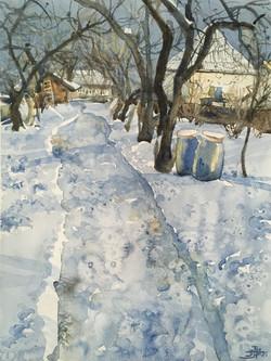 Winter in the village -1