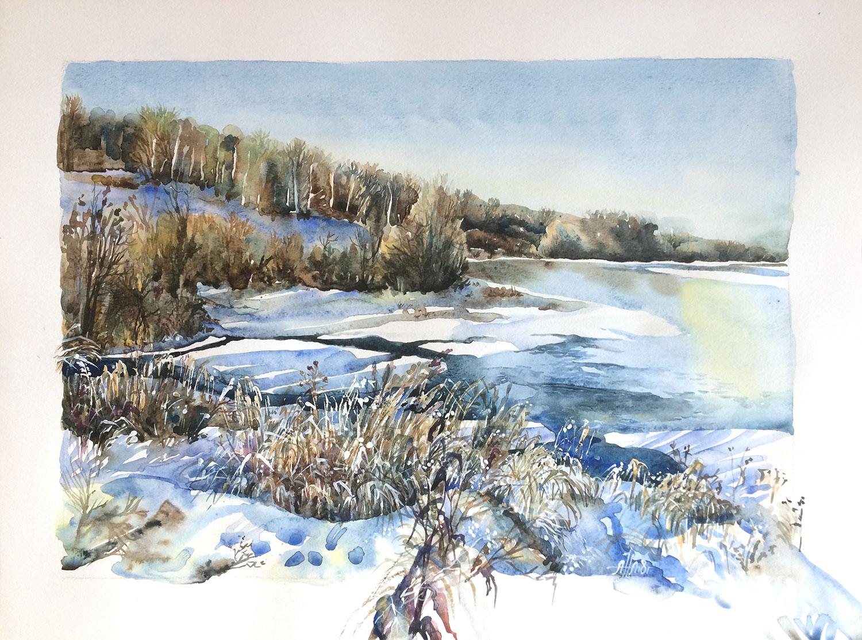 Дон река. Зима