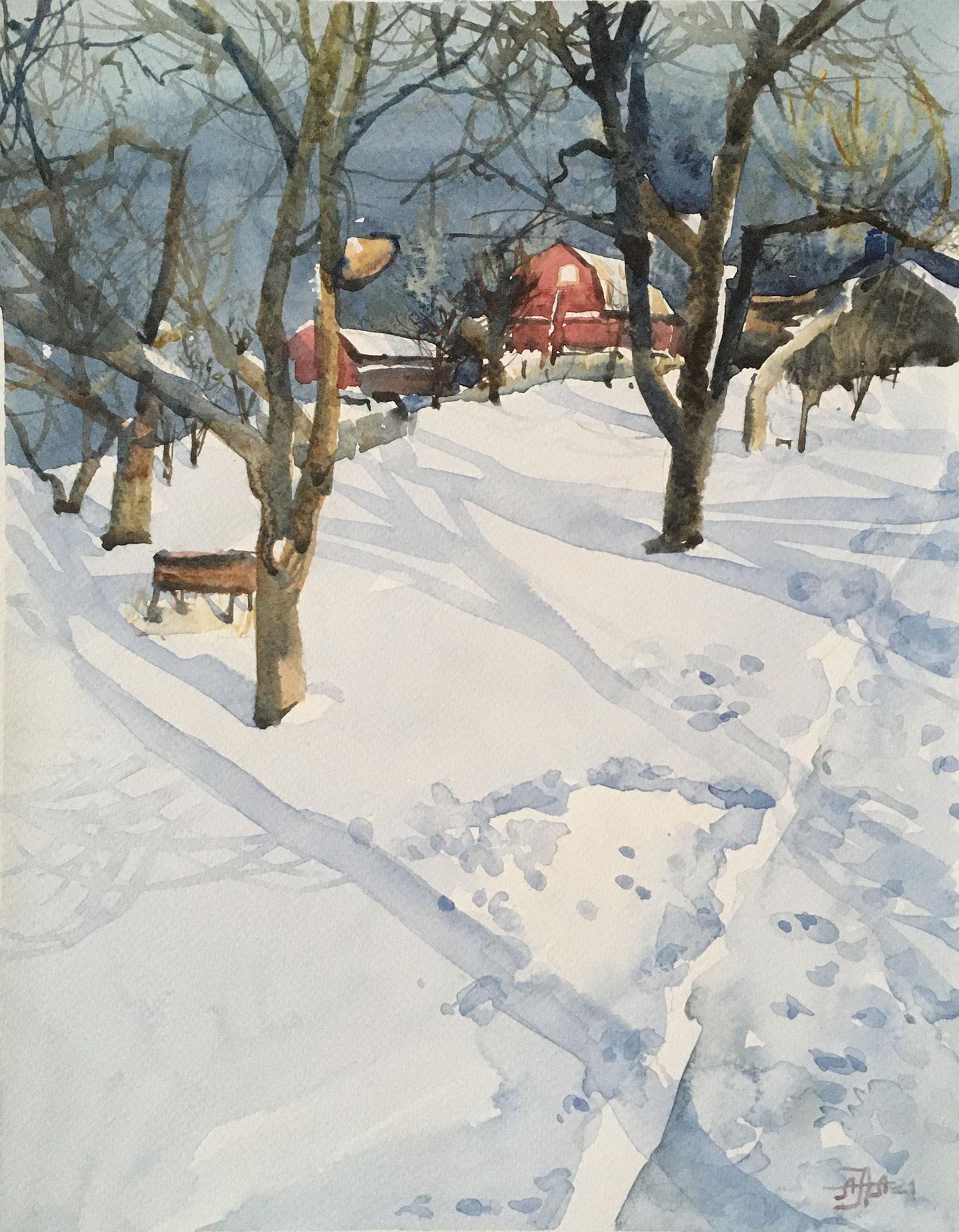 Зима в деревне -1