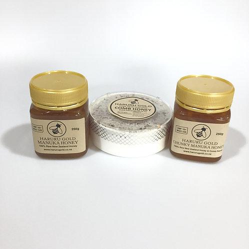 2021 Triple Treat - Comb Honey, Chunky and Honey