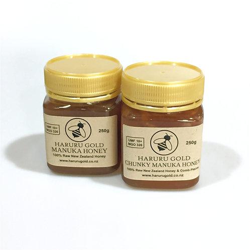 Manuka Honey Combo - Honey and Chunky UMF 10+ 250g
