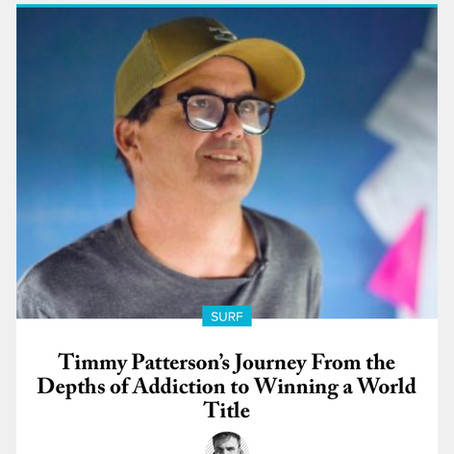Timmy Patterson's Journey From the Depths of Addiction to Winning a World Title