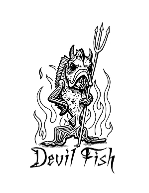 Devil Fish Logo by T.Patterson Surfboards