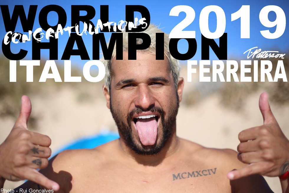 Italo Ferreira 2019 WORLD CHAMPION