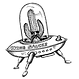 Flying Saucer model logo by T.Patterson Surfboards