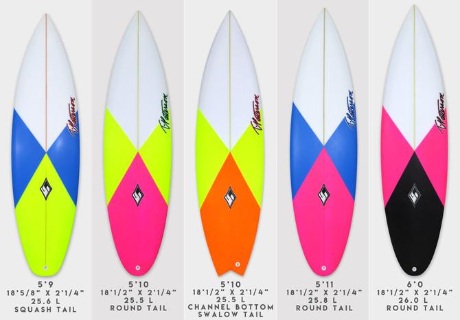 Italo Ferreira's J Bay boards