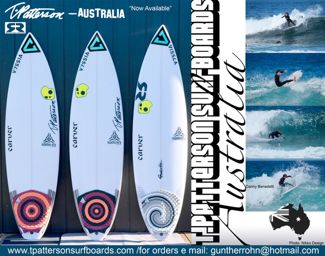 T.Patterson Surfboards Australia - Now Available!!!