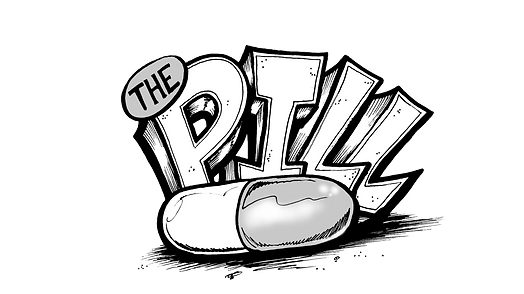 Original Pill model logo by T.Patterson Surfboards