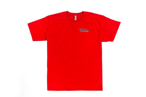 T.Patterson Surfboards Short Sleeve Red Logo Tee