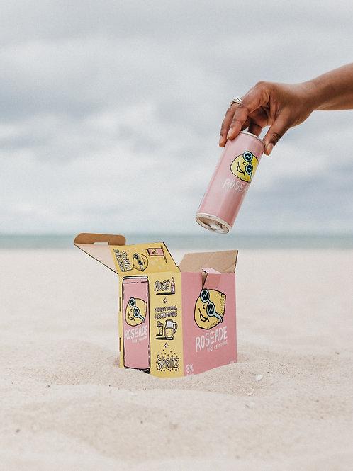 Roseade The Original Rose Lemonade Spritzer 4 can pack