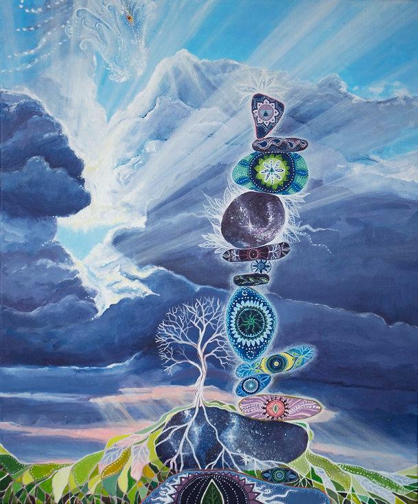 Hingept peegeldab inimese hinge sügavusi, ilu ja suursugusust. Iga inimese maal on unikaalne, keskendudes just tema kõrgemale potentsiaalile ning positiivsetele omadustele. Kunstnikuks on Mirjam Raag.