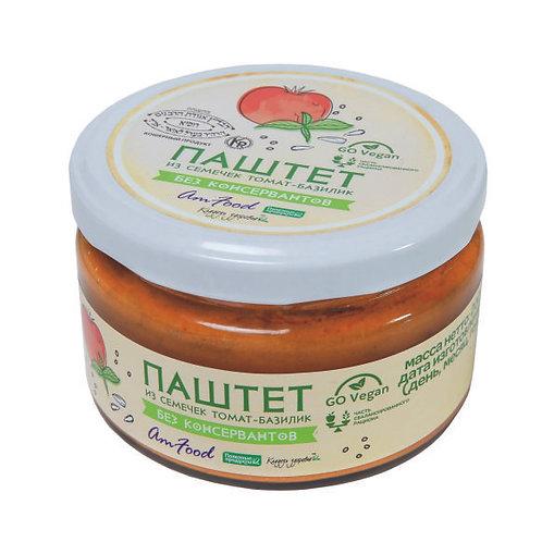 """Паштет из семечек томат-базилик """"Полезные продукты"""" 200г"""
