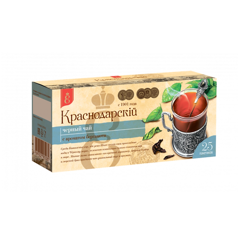 """Чай черный с бергамотом """"Краснодарский"""" 25пак"""