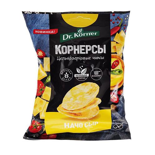 """Чипсы кукурузно-рисовые с сыром начо  """"Dr korner"""" 50гр"""