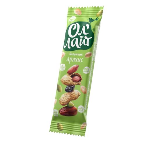 Фруктово-ореховый батончик  Арахисовый «Ол'лайт®» 30г