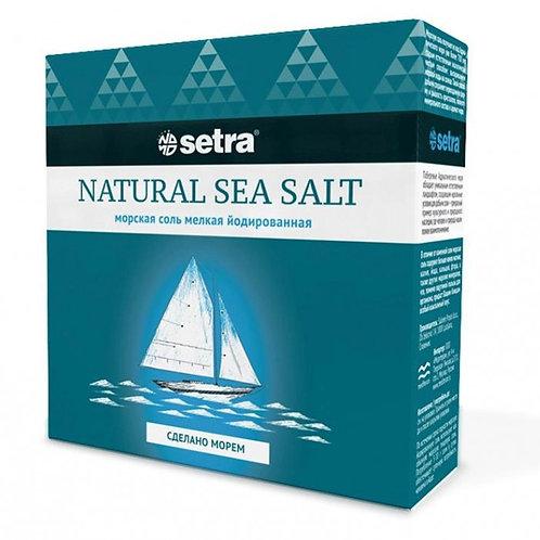 """Соль морская йодированная мелкая """"Setra"""" 500г"""