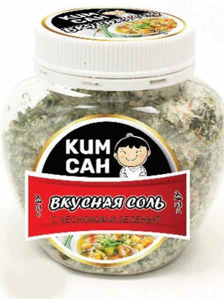 """Вкусная соль с чесноком и зеленью """"Ким Сан"""" 400 г"""