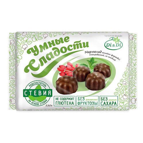 Мармелад желейный в шоколадной глазури «Умные сладости» 220г