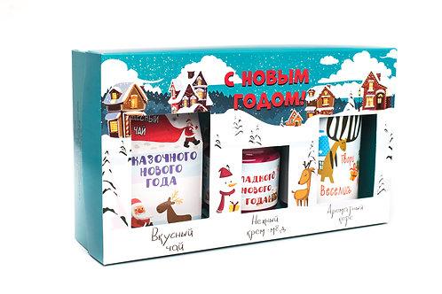 """Посылка от Деда Мороза """"Чай, крем-мед, кофе"""""""
