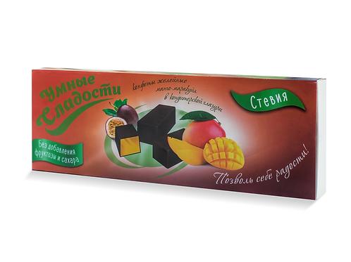 """Конфеты желейные манго-маракуйя в глазури """"Умные сладости"""" 105г"""