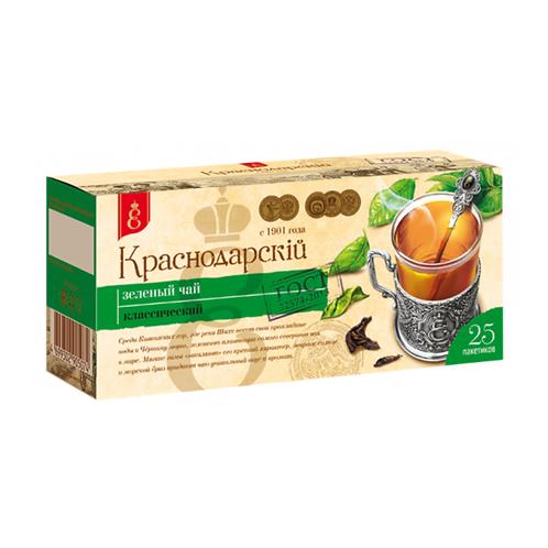 """Чай зеленый """"Краснодарский"""" 25пак"""