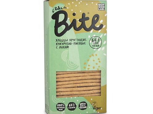 "Хлебцы кукурузно-рисовые с луком без глютена ""Bite"" 150г"