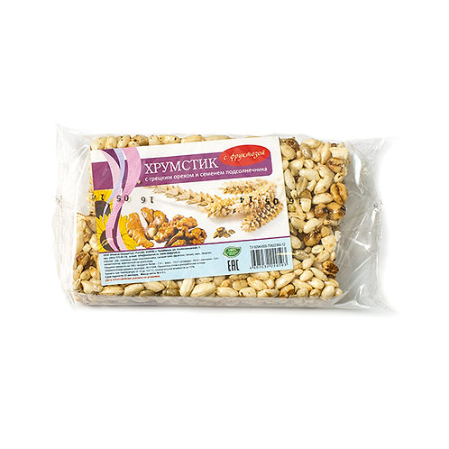 Хрумстик c грецким орехом и подсолнечником на фруктозе 50г